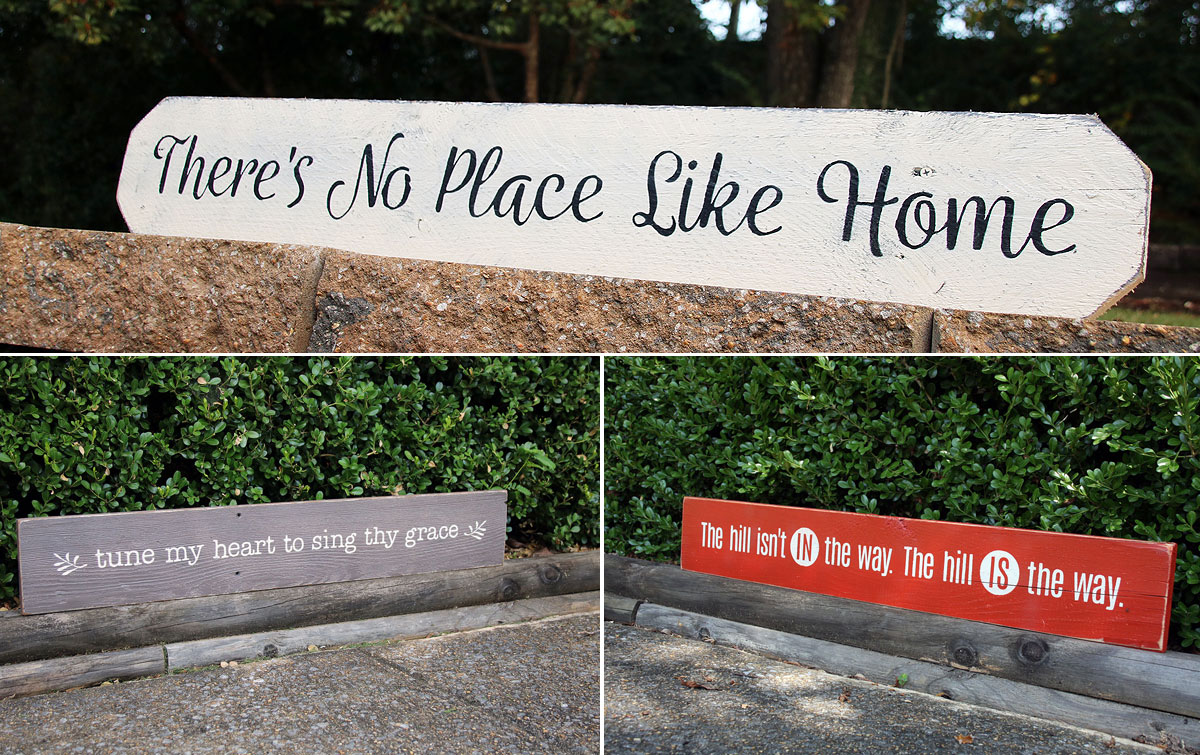 There's No Place Like Home Custom Painted wood sign