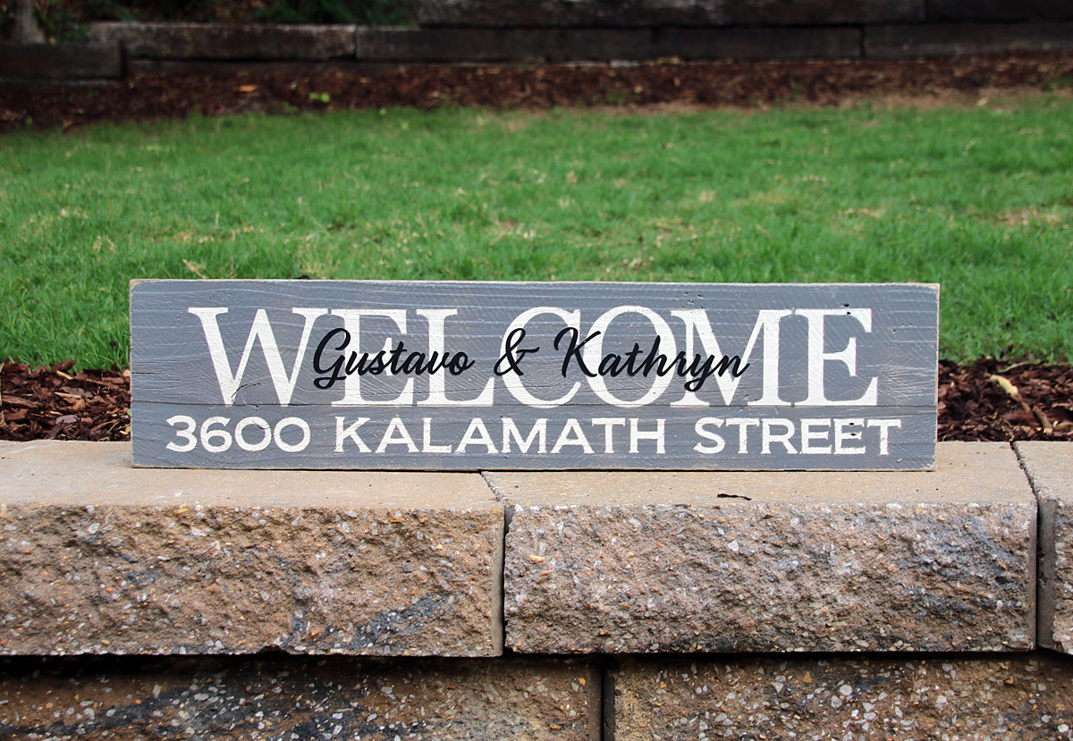 Custom Designed Personalized Home Sign