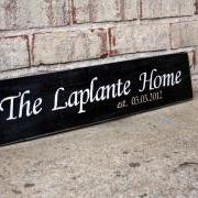 The Laplante Home - Custom Painted Sign