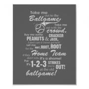 Take Me Out to the Ballgame Lyrics Artwork - Gray