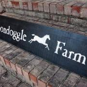 Boondoggle Farm - Custom Painted Sign