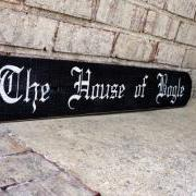 The House of Bogle - Custom Painted Wood Sign