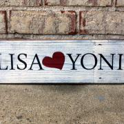 Lisa *hearts* Yoni - Custom Painted Sign