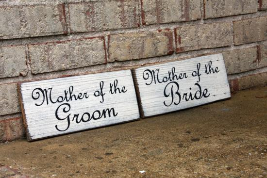 Custom Signs - Mother of The Bride Sign