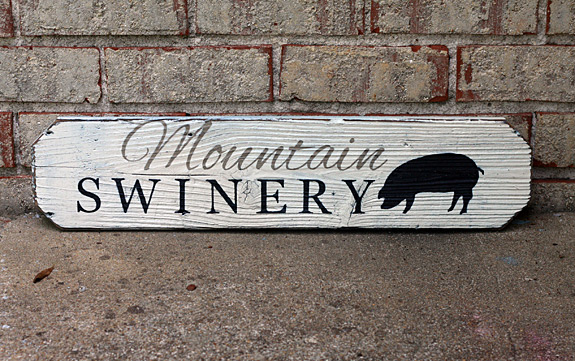 Custom Wood Painted Sign