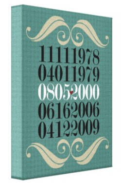 Special Dates Art Wrapped Canvas