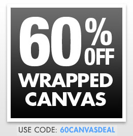 60% off Wrapped Canvas at Zazzle