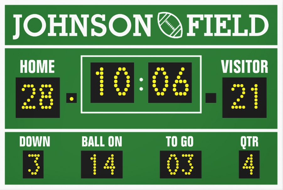 Personalized Football Scoreboard Wrapped Canvas