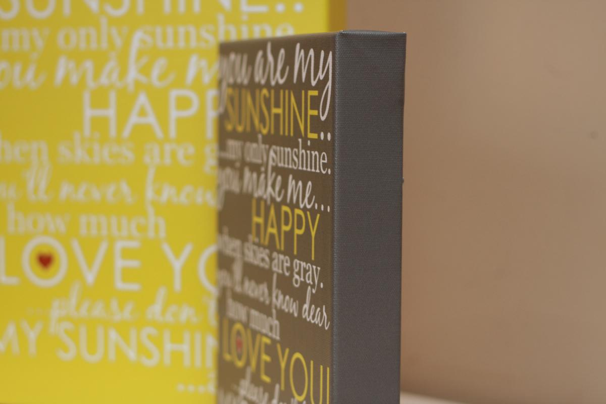 You Are My Sunshine Wall Art you are my sunshine wall art