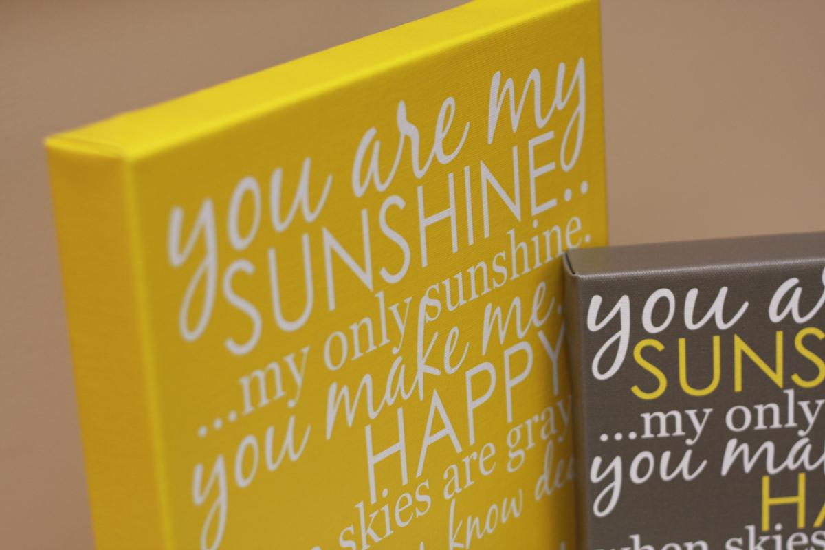 You Are My Sunshine Wall Art Canvas