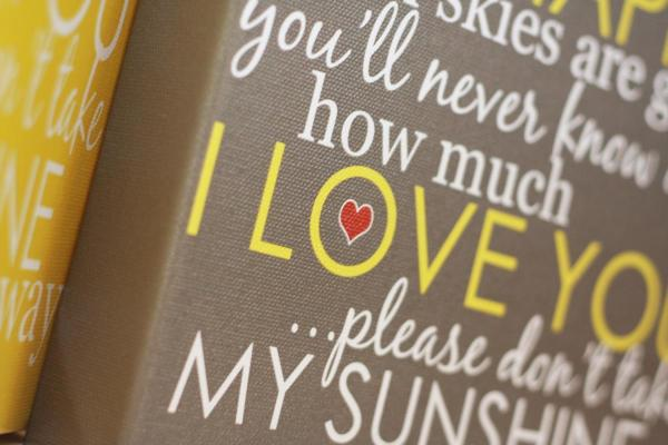 You Are My Sunshine Wrapped Canvas
