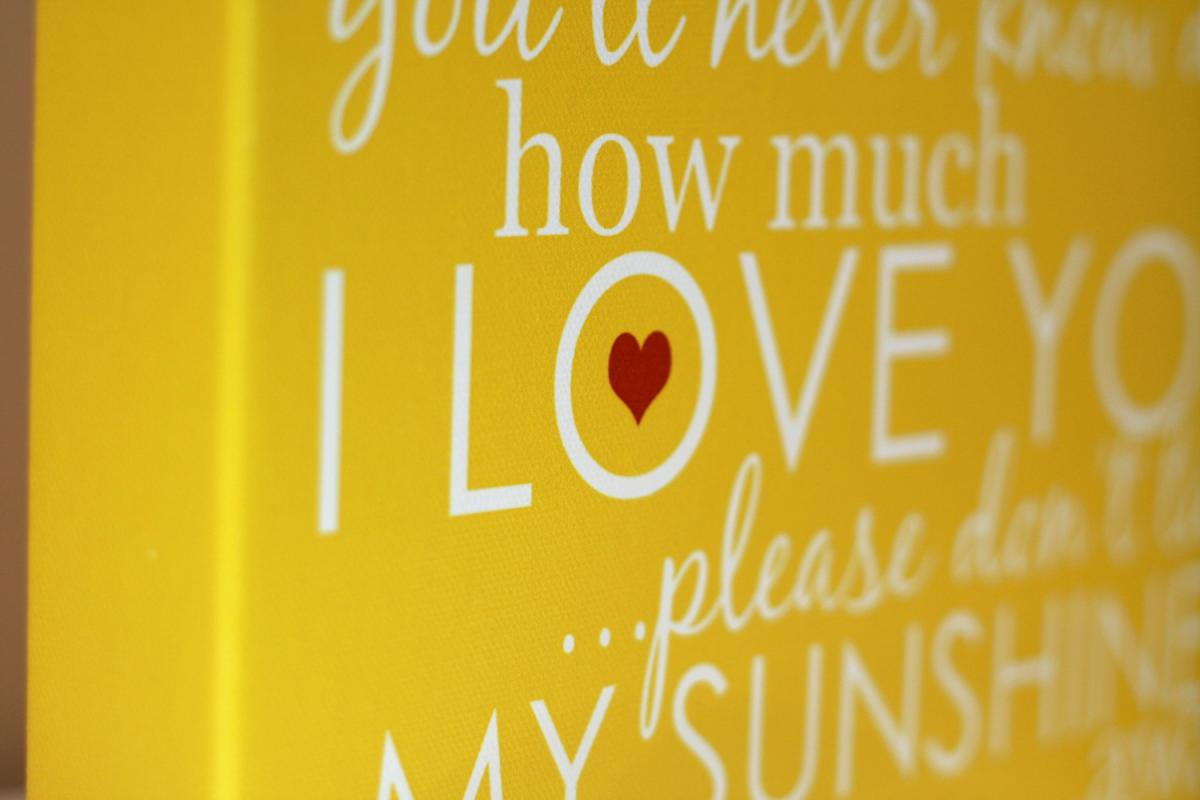 You Are My Sunshine Canvas | Signs by Andrea