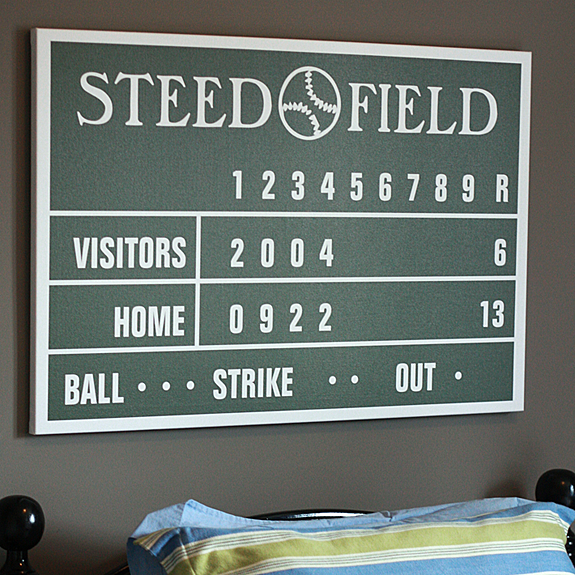 Personalized Baseball Scoreboard Canvas or Poster