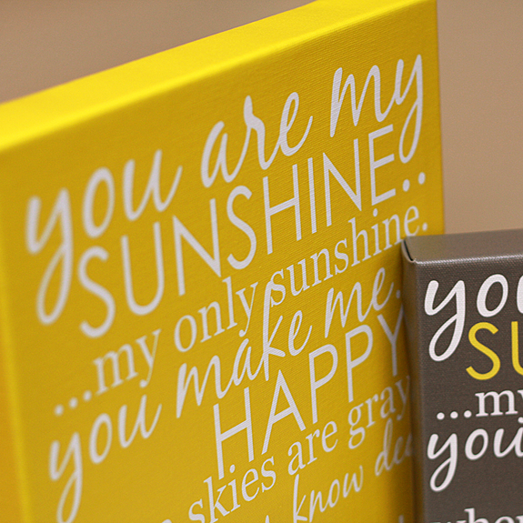 You Are My Sunshine Lyrics Art on Canvas and Posters