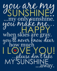 You Are My Sunshine Poster - Blue