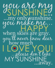You Are My Sunshine Poster - Teal