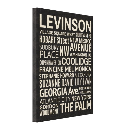 Custom Designed Wrapped Canvas - Personalized Family Names