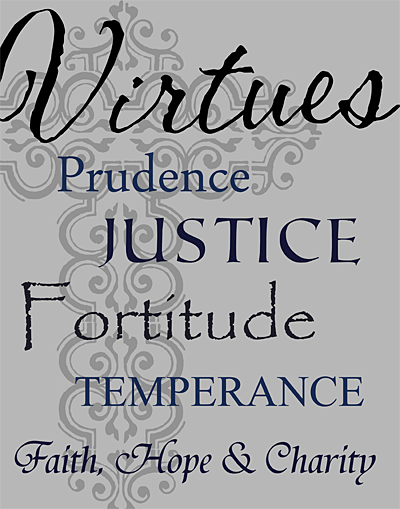 "Custom Designed Christian Virtues 11"" x 14"" Wood Snap Wood Canvas Print"