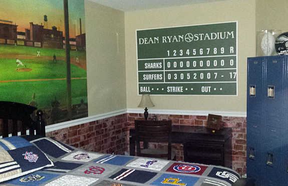 "Personalized Scoreboard Wrapped Canvas - 40"" x 60"""