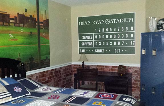 """24"""" x 36"""" Personalized Baseball Scoreboard Wrapped Canvas"""