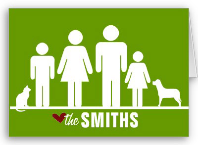 Personalized Iconic Family Notecard