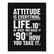 Attitude is Everything Poster - Black