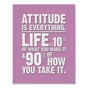 Attitude is Everything Poster - Pink