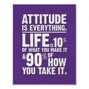 Attitude is Everything Poster - Purple