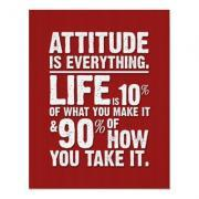 Attitude is Everything Poster - Red