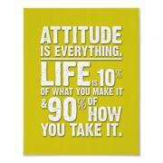 Attitude is Everything Poster - Yellow