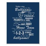 Take Me Out to the Ballgame Poster - Blue