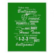 Take Me Out to the Ballgame Poster - Green