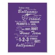 Take Me Out to the Ballgame Poster - Purple