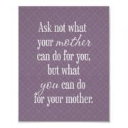 For Your Mother - Purple Poster