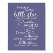 Twinkle Twinkle Little Star - Grape