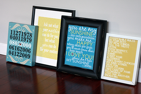 Mother's Day Gifts - Personalized Prints and Canvases