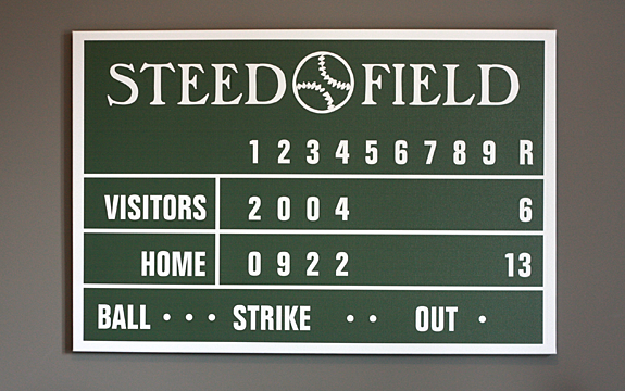 Personalized Baseball Scoreboard - Wrapped Canvas