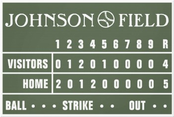 "Personalized Scoreboard Wrapped Canvas - 60"" x 40"""