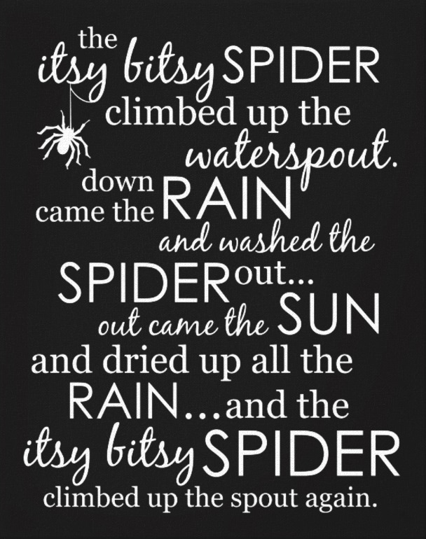 Itsy Bitsy Spider Artwork - Black