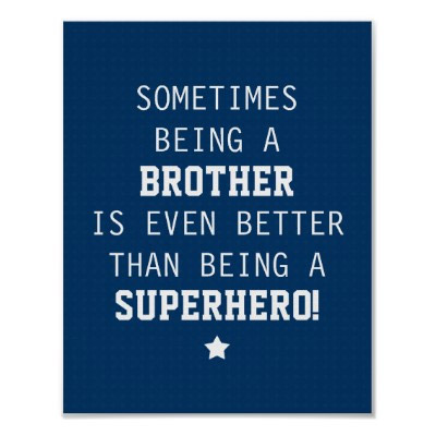 Sometimes Being a Brother is Even Better Than Being a Superhero! Poster