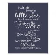 Twinkle Twinkle Little Star - Dark Blue