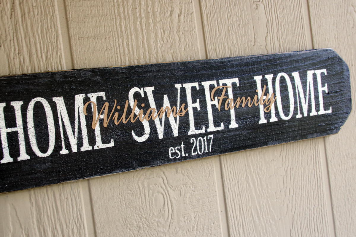 Personalized Home Sweet Home Housewarming Gift