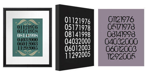 Special Dates Artwork Printable, Poster or Wrapped Canvas