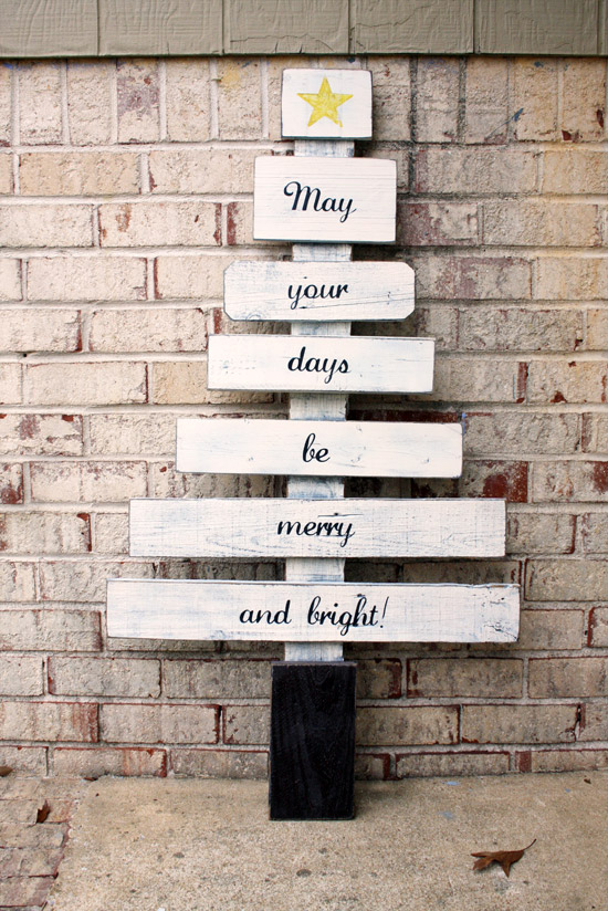 Scrap Wood Tree - May Your Days Be Merry and Bright