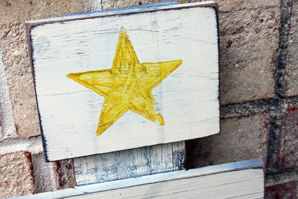 scrap wood tree tutorial star