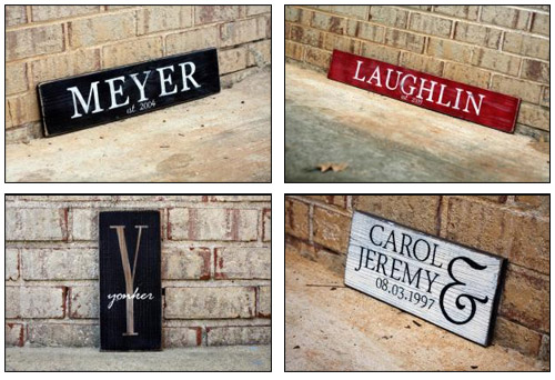 Browse All Wood Signs