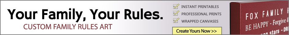 Create Your Own Family Rules Artwork