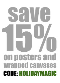 Save 15% on Posters and Wrapped Canvases