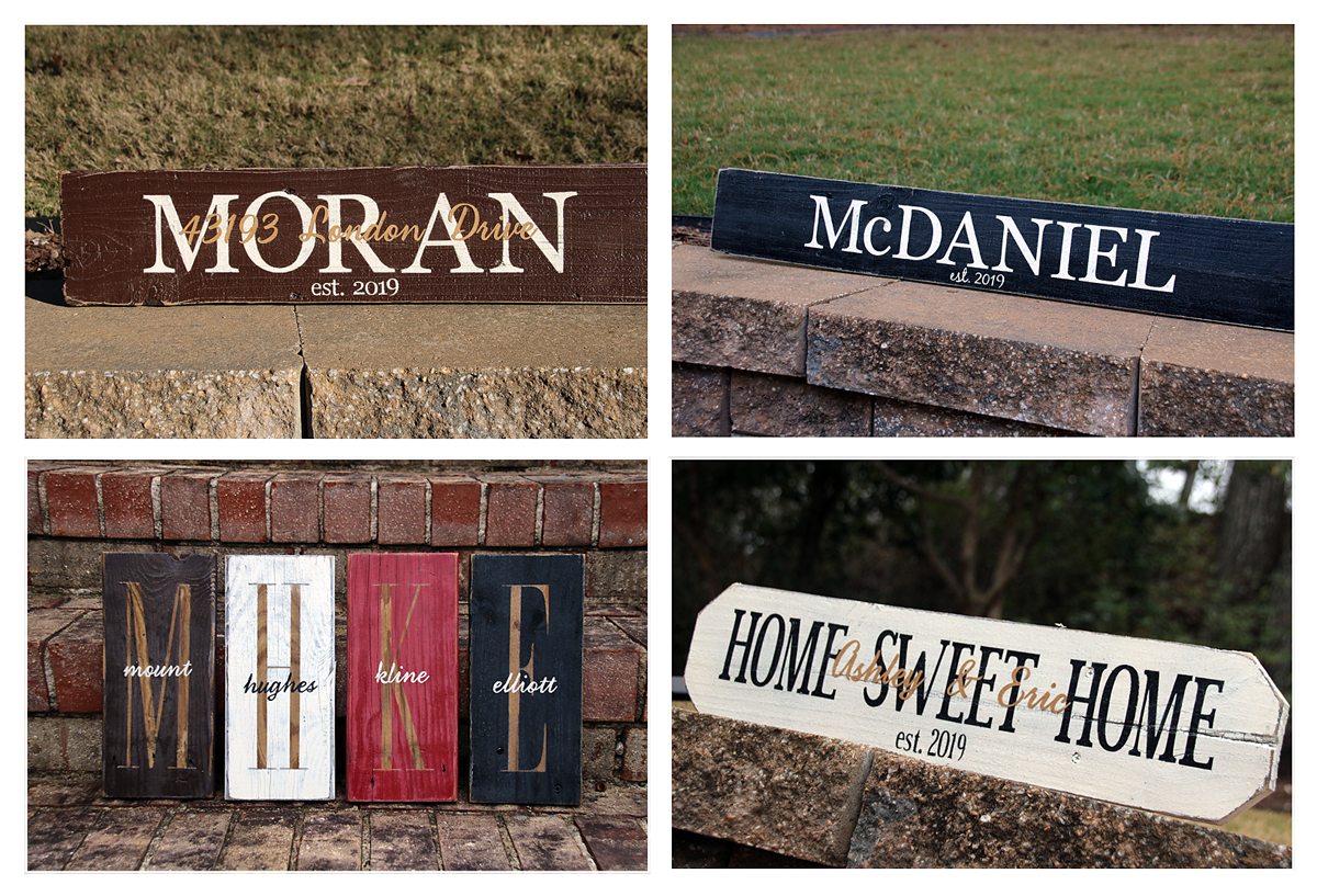Signs by Andrea Personalized Wood Signs