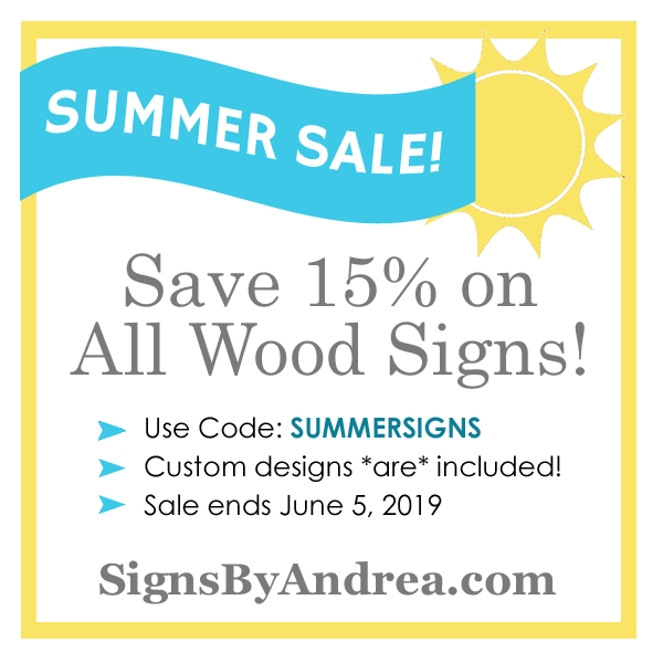 Summer SignsByAndrea.com 15% off Sale!